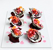 Oysters with tamarillo relish