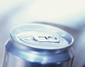 The pull tab closure on a drinks can
