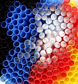 Coloured straws, cross-section