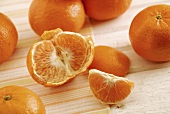 Tangerines, one peeled