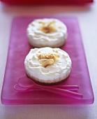 Small coconut cream cakes