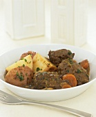 Braised beef with potatoes