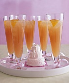 Campari Orange and small wedding cake