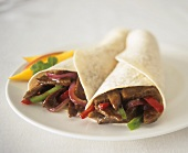 Tortillas with beef and vegetable filling