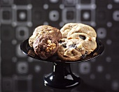 Chocolate nut cookies and liquorice nut cookies