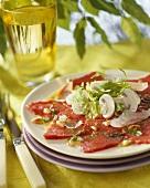 Carpaccio (Marinated slices of beef fillet)