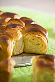 Sunflower bread (Bulgarian yeast cake)