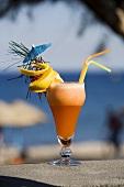 Beach Kiss (Vodka cocktail with peach)