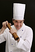 Chef with a peppermill