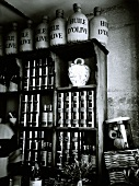 Olive oil on shelves