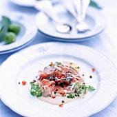 Vitello tonnato (Veal with tuna sauce)