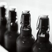Swing-top beer bottles
