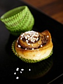 Chocolate nut buns with pearl sugar