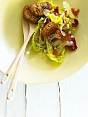 Caesar Salad mit Tofu-Dressing