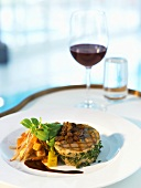 Tournedos of lamb with vegetables