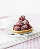 A raspberry tartlet