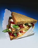 Wholemeal tomato, mozzarella & basil sandwich (double-decker)