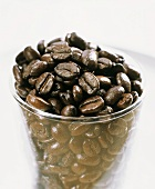 Coffee beans in a glass