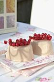 Moulded redcurrant cream