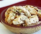 Cantucci con pistacchio e uvetta (biscuits), Tuscany, Italy