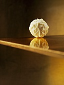 A white chocolate truffle