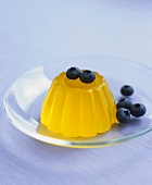Lemon jelly with blueberries