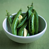 Blanched Pea Pods with Butter