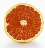 A Red Grapefruit Half