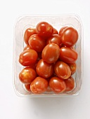 Grape Tomatoes in a Plastic Container