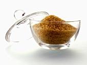 Brown Sugar in a Glass Sugar Bowl