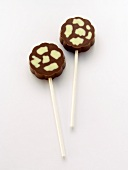 Two Chocolate Lollipops