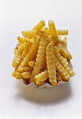 Crinkle Cut French Fries in a Carton