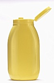 Mustard in a Plastic Squeeze Bottle