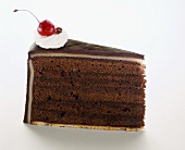 A Slice of Chocolate Layer Cake