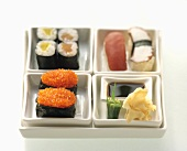 Assorted Sushi in a Bento Box