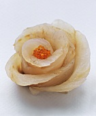 Sashimi rose with red caviar