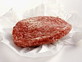 A Hamburger Patty in Butcher's Paper