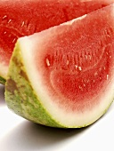 Two Slices of Watermelon Close Up