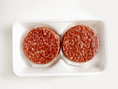Two Hamburger Patties in a Package