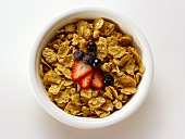 A Bowl of Corn Flakes with Berries