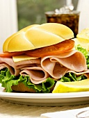 A Ham Sandwich on a Kaiser Roll