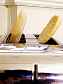 An English Muffin Popping from a Toaster