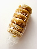 Half Dozen Bagels in a Cellophane Bag