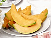 Slices of Muskmelon