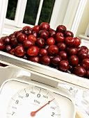 Pitted Cherries on a Scale