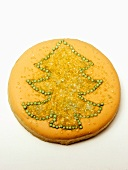 Frosted Christmas Tree Cookie