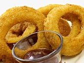Fried Onion Rings with Sauce