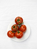 Vine Ripened Tomatoes on a Plate