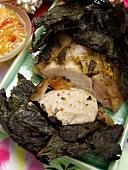 Hawaiian Pork with Vine Leaves