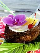Pina Colada in a Coconut Shell